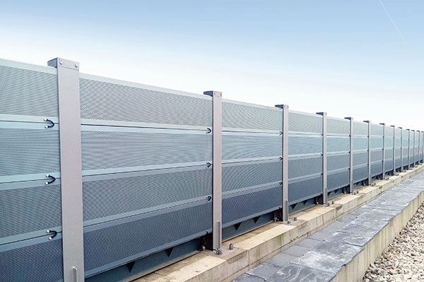 Why do residential noise barriers use gray more